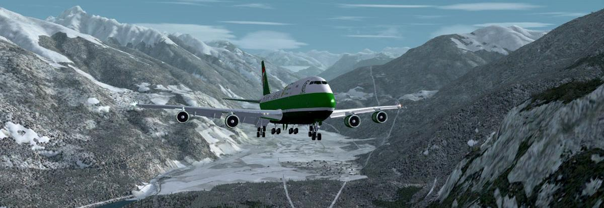 Christmas trip to Sion (yes, in a 747-400!)